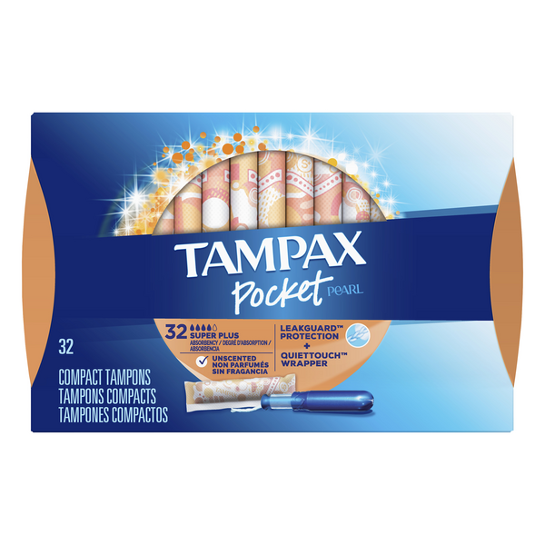 Tampax Pocket Pearl Super Plus Tampons Unscented