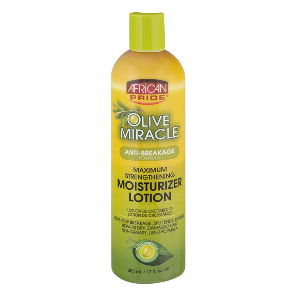 African Pride Olive Miracle Max Strength Moisturizer Lotion