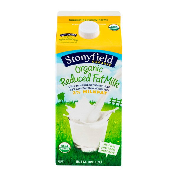 Stonyfield 2% Reduced Fat Milk Organic