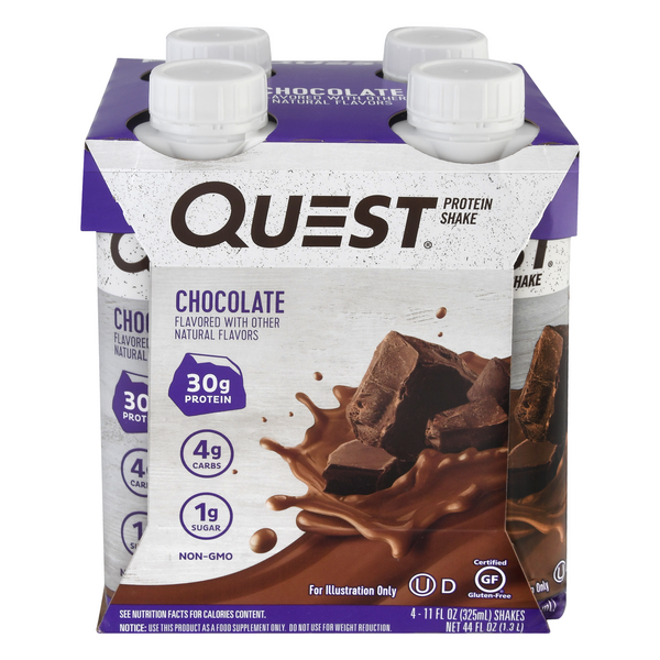 Quest Protein Shake Chocolate - 4 pk
