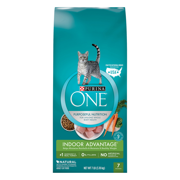 Purina ONE Indoor Advantage Adult Dry Cat Food Turkey