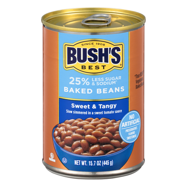 Bush's Best Baked Beans Sweet & Tangy 25% Less Sugar & Sodium