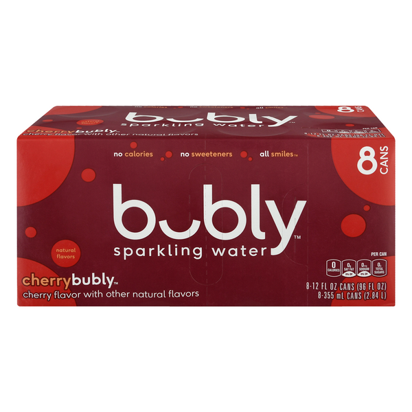 bubly Sparkling Water Cherry - 8 pk
