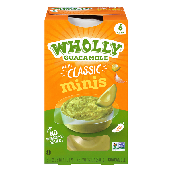 Wholly Guacamole 100 Calorie Packs Classic All Natural - 6 pk Refrigerated
