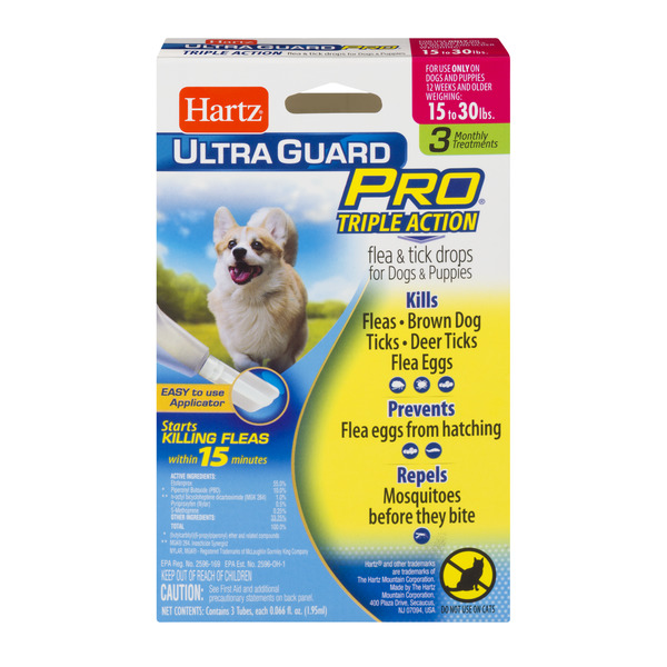 Hartz UltraGuard Pro Flea & Tick Drops for Dogs & Puppies 16-30 lbs