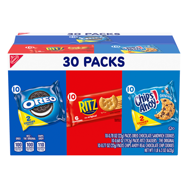 Nabisco Snacks Oreo Ritz Chips Ahoy - 30 pk