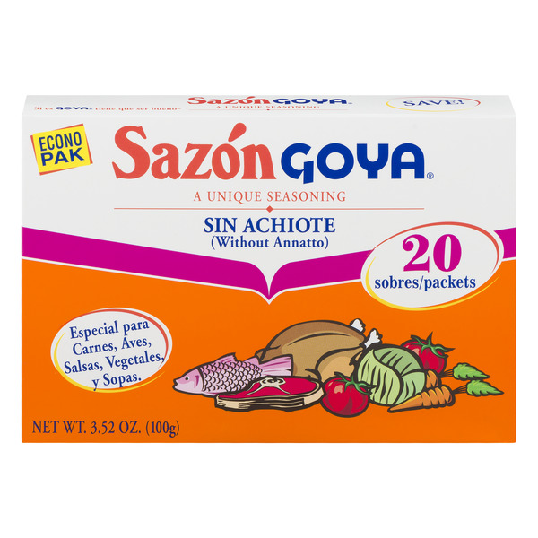 Goya Sazon Seasoning without Annotto - 20 ct