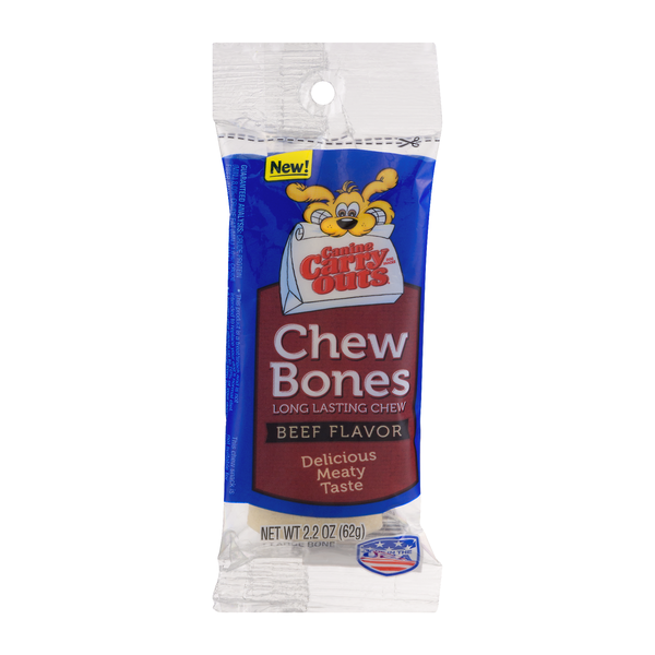 Canine Carry Outs Dog Chew Bones Beef Adult