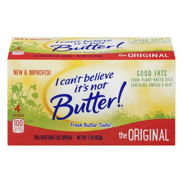 I Can't Believe It's Not Butter! Vegetable Oil Original Sticks - 4 ct