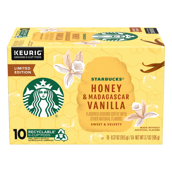 Starbucks Ground Coffee K-Cups Honey & Madagascar Vanilla Limited Edition