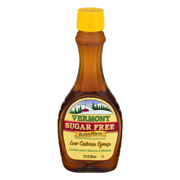 Vermont Syrup Butter Flavor Sugar Free Low Calorie