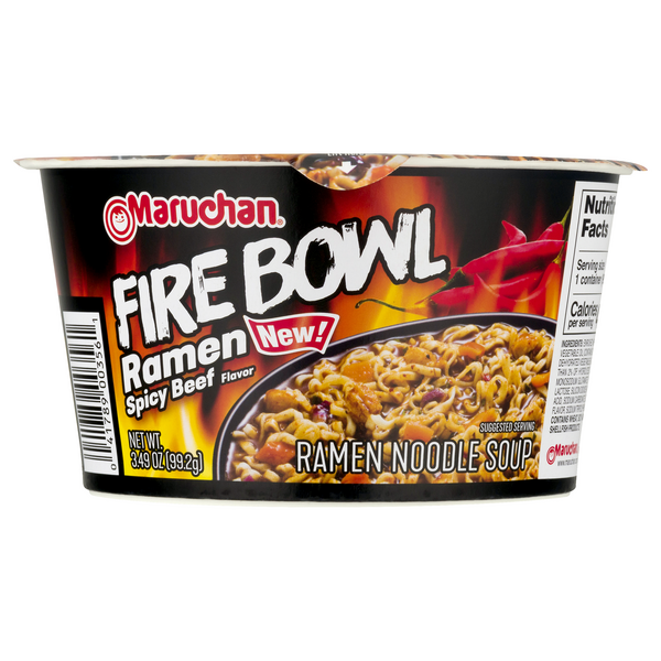 Maruchan Fire Bowl Ramen Noodle Soup Spicy Beef