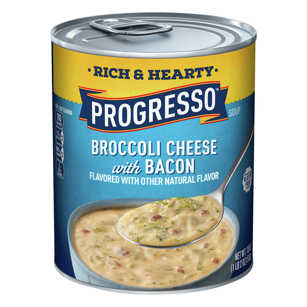 Progresso Rich & Hearty Broccoli Cheese with Bacon Soup Gluten Free