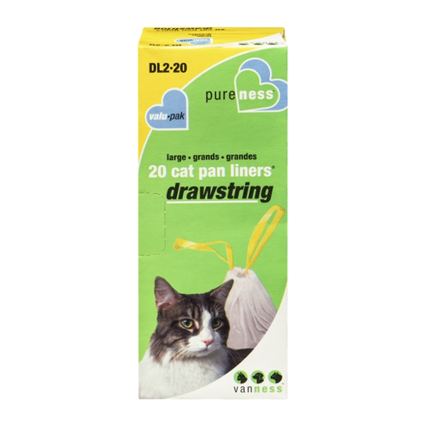 Van Ness Cat Pan Liners Drawstring Large 30 in X 18 in X 1.10 mil
