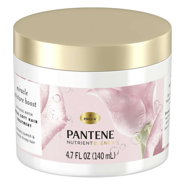 Pantene Nutrient Miracle Moisture Pedal Soft Hair Treatment w/Rose Water