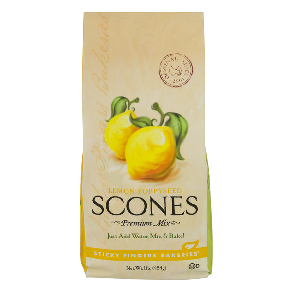 Sticky Fingers Scones Mix Lemon Poppyseed