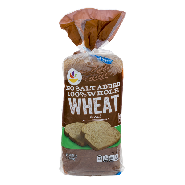 Stop & Shop 100% Whole Wheat Bread No Salt Added