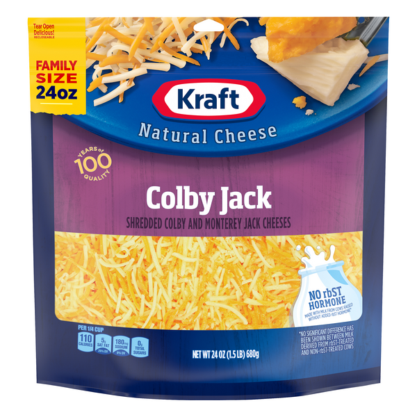 Kraft Colby & Monterey Jack Cheese Shredded Natural