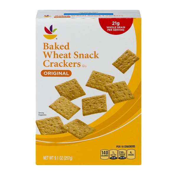 Stop & Shop Snack Crackers Baked Wheat Original