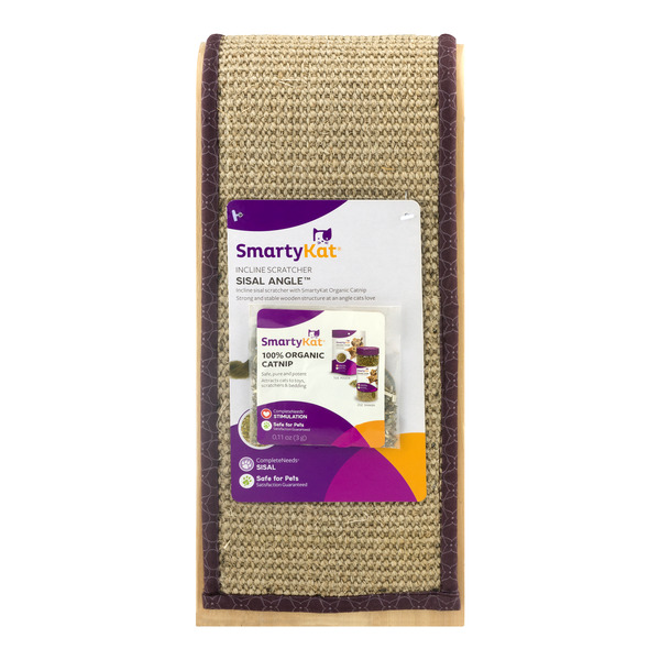 SmartyKat Incline Scratcher Sisal Angle With 100% Organic Catnip