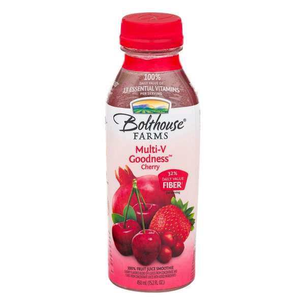 Bolthouse Farms Multi-V Goodness Cherry 100% Fruit Juice Smoothie Fresh