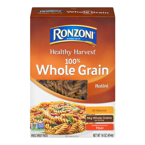 Ronzoni Healthy Harvest Pasta 100% Whole Grain Rotini All Natural
