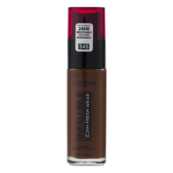 L'Oreal INFALLIBLE up to 24H Fresh Wear Foundation SPF 25 Ebony 545