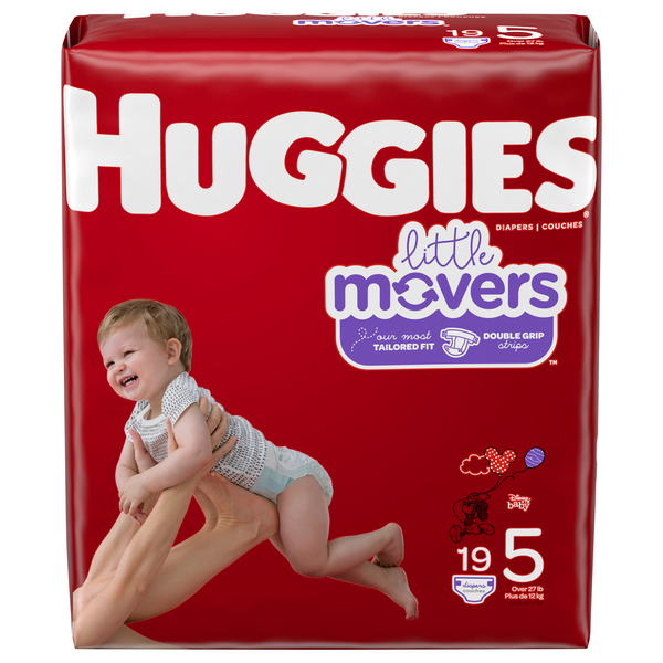 Huggies Little Movers Size 5 Diapers 27+ lbs