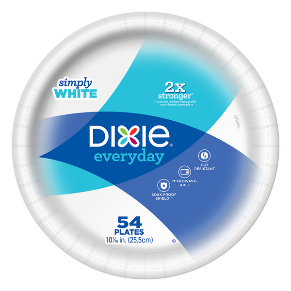 Dixie Everyday Plates 10 1/16 Inch