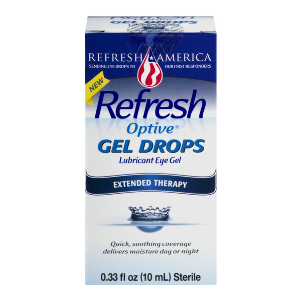Refresh Optive Gel Drops Lubricant Eye Gel Extended Therapy