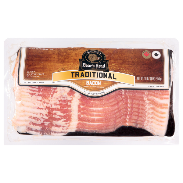 Boar's Head Bacon Naturally Smoked Sliced
