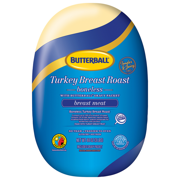 Butterball Turkey Breast Boneless Roast Gravy Packet Included Frozen