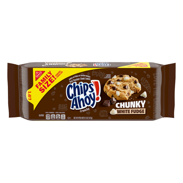 Nabisco Chips Ahoy! Chunky Cookies White Fudge Family Size