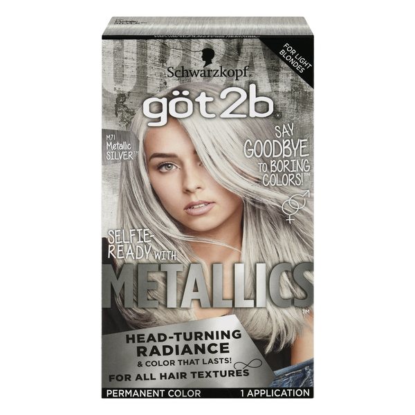 Schwarzkopf Got2b Metallics Permanent Hair Color Metalic Silver M71