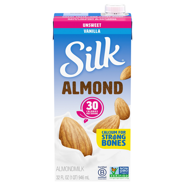 Silk Almond Milk Vanilla Unsweetened
