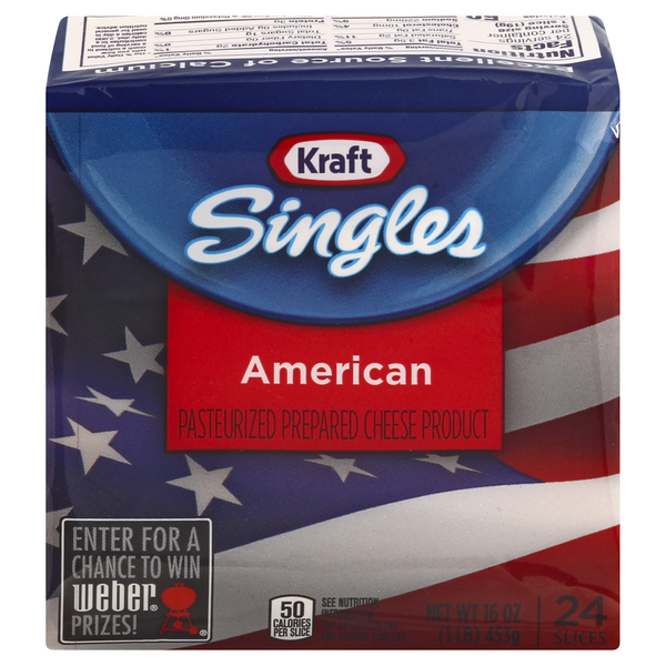 Kraft Singles American Cheese Slices - 24 ct