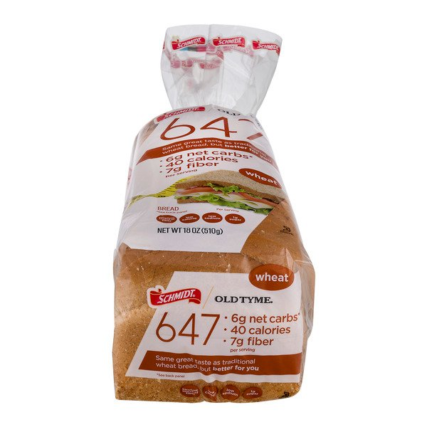 Schmidt Old Tyme 647 Wheat Bread Low Calorie & Low Carb