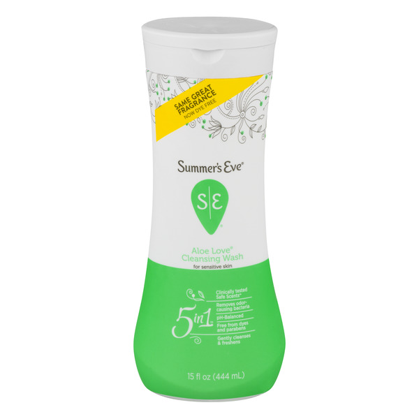 Summer's Eve 5-in-1 Cleansing Wash for Sensitive Skin Aloe Love