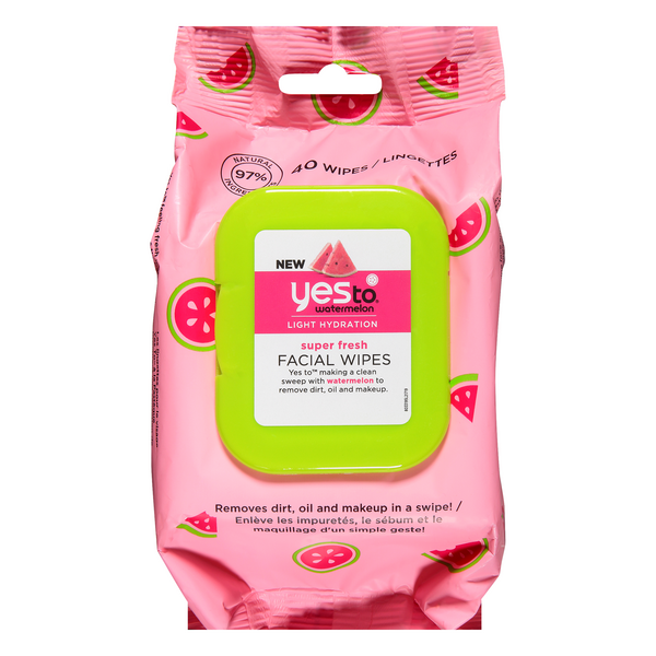 Yes To Watermelon Light Hydration Super Fresh Facial Wipes
