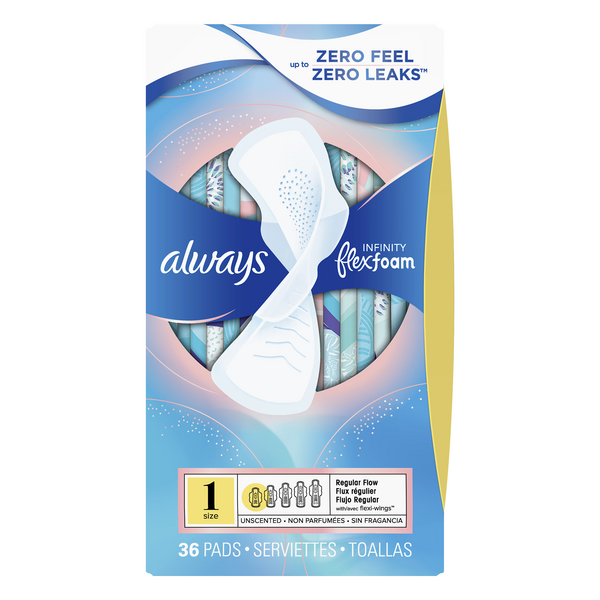 Always Infinity Pads with Wings Regular Unscented Size 1