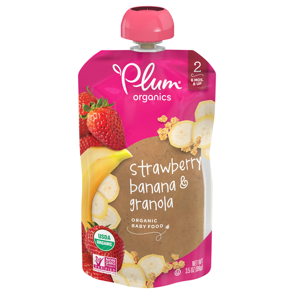 Plum Organics Stage 2 Strawberry Banana & Granola
