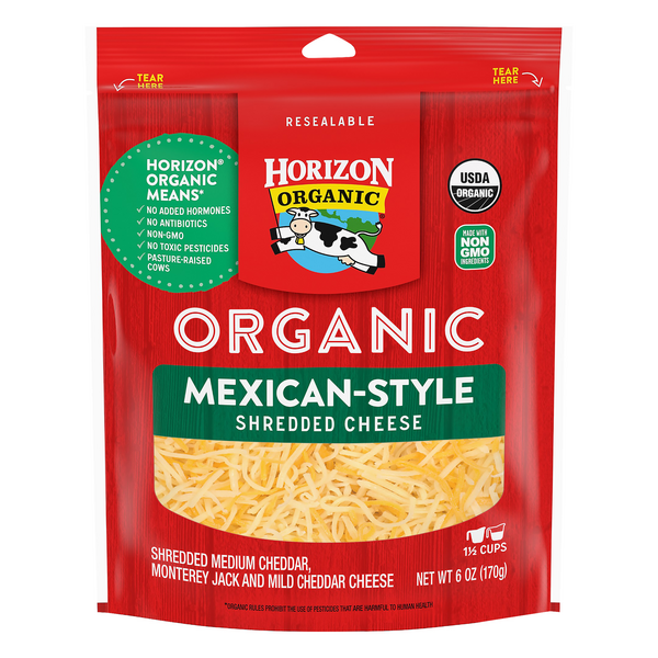 Horizon Mexican Style Cheese Organic Shredded