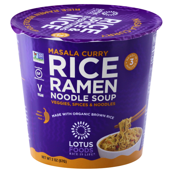 Lotus Foods Rice Ramen Noodle Soup Masala Curry Gluten Free