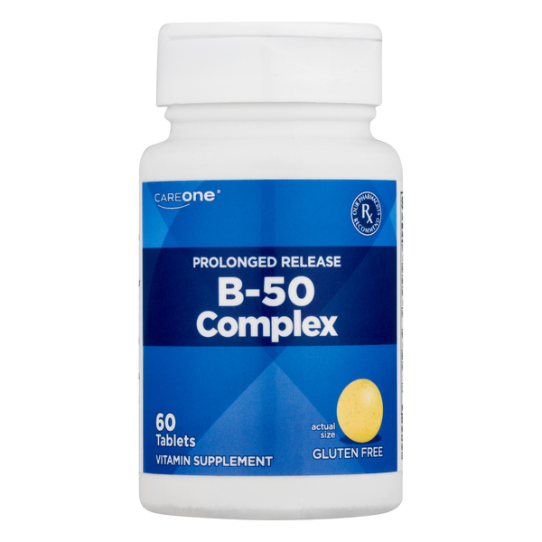 CareOne B-50 Complex Prolonged Release Tablets Gluten Free