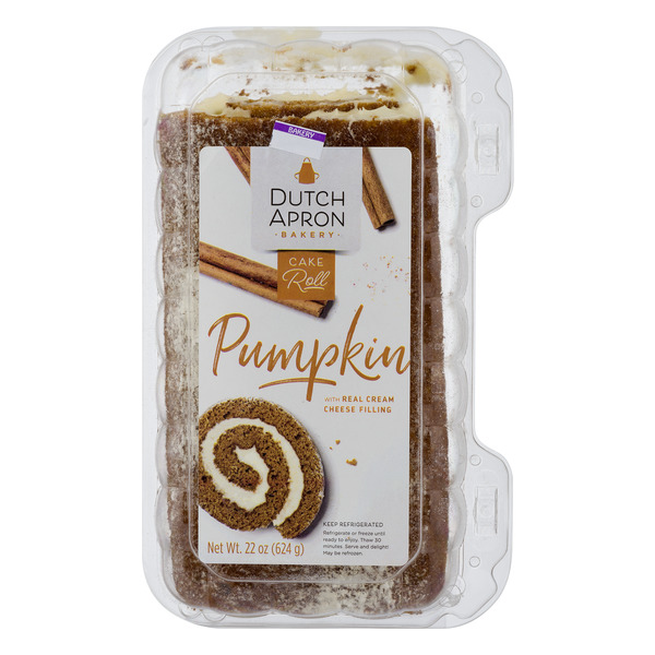 Dutch Apron Bakery Pumpkin Roll w/ Cream Cheese Filling