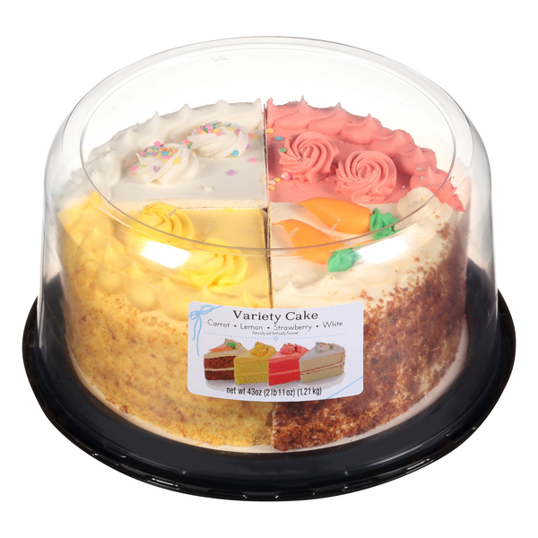 Rich Products Carrot Lemon Strawberry White Variety Cake 8 Inch