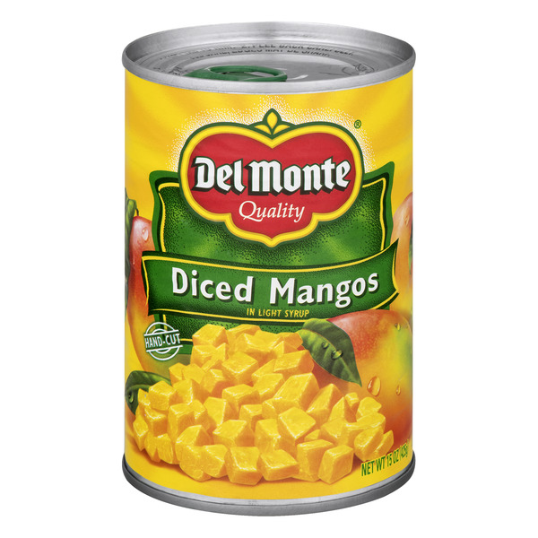 Del Monte Mangos Diced in Light Syrup