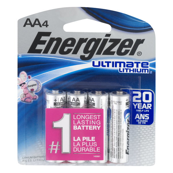 Energizer Ultimate Lithium Batteries Size AA
