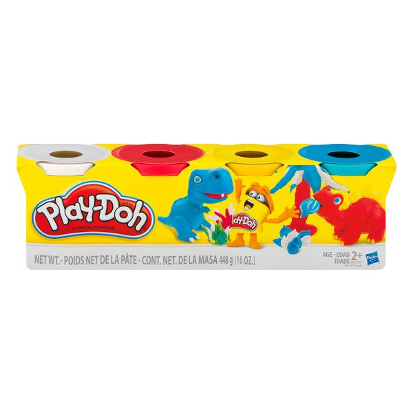 Play-Doh Modeling Compound Classic (Blue, Yellow, Red & White)