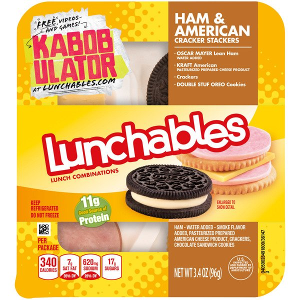 Lunchables Lunch Combinations Ham & American Cracker Stackers